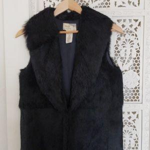 Elizabeth and James Rabbit fur vest